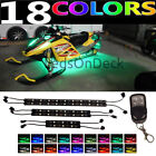 COLOR CHANGING ATV UTV SNOWMOBILES NEON LED ACCENT LIGHT STRIP KIT w REMOTE 12v