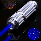 20 Miles 450nm Blue Laser Pointer Point Pen Lazer Beam Light + 5mW Star Cap Gift