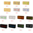 Modern LED Wooden Alarm Clock Temperature Humidity Electronic Desktop Digital