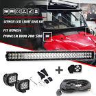 "30"" 32INCH LED LIGHT BAR + 2x 18W Pods + Wirings For Honda Pioneer 1000 700 500"
