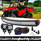 """52"""" 54INCH Curved LED LIGHT BAR + 2x 18W Pods + Wirings For Honda Pioneer 1000"""