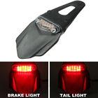 Universal Red Dirt Bike Motorcycle LED Enduro Fender Brake Tail Light w/Bracket