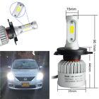 Car H4 COB Hi-Lo Beam LED Fog Driving Headlight Conversion Kit Waterproof 1Pair
