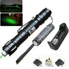10 Miles Military 5mw 009 Green Adjust Laser Pointer Pen 532nm+Charger + Battery