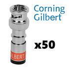 50 Corning Gilbert BNC Mini Coax Coaxial Connectors Fittings GIL1012 UltraEase