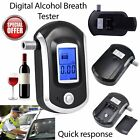 Digital Alcohol Portable Breathalyser Breath Tester Blue LCD Breathtester UL