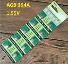 10X Batteries AG9 L936 LR45 394A SR45 Coin Button Cell Battery Watch camera t