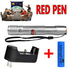 20Miles 650nm 1MW Red Beam Light Grade Laser Pointer Pen *Battery+Charger