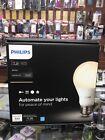 Brand New Philips Hue White A19 60W Equivalent Smart Bulb Starter Kit (plus Hub)