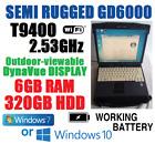 BEATS I5! ITRONIX GD6000 MILSTD SEMI-RUGGED NOTEBOOK T9400 2.53G 6GB 320GB WIN10