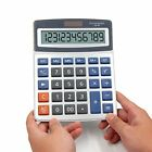 OFFIDIX Basic Calculators Office Desktop Calculator Solar and Battery Dual Power