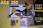 "Garrett Ace 250 Metal Detector with 6.5x9"" Waterproof Coil  * Fast Free Shipping"