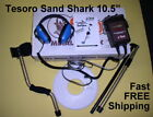 "USED Tesoro Sand Shark Waterproof Metal Detector with 10.5"" Coil * FREE Shipping"
