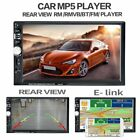 "7""2 DIN FHD Car Stereo Radio Bluetooth MP5 Player FM Touch Mirror GPS USB AUX TF"