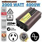 600W - 4000W Pure Sine Wave Power Inverter DC12V To AC240V USB Car Converter UN
