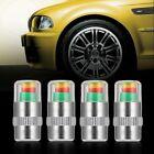 4PCS Car Auto Tire Pressure Monitor Valve Stem Caps Sensor Indicator Alert UN