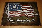 VINTAGE STYLE American Flag USA DON'T TREAD ON ME SECOND AMENDMENT GARAGE SIGN