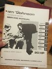 1971 20 HP Johnson outboard service manual