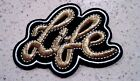 New Gold Life Hippie Patches Embroidered Patch Applique Badge Iron Sew On Punk