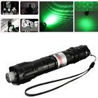 10 Miles 532nm Adjustable Focus Green Laser Pointer Beam Light Pen +Star Cap NEW