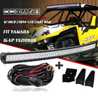 """For YAMAHA 16-UP YXZ1000R Top Upper Roof 42"""" 240W Curved LED Light Bar + Wiring"""