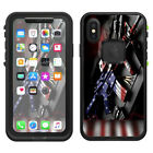 Skins Decals for Lifeproof fre iPhone X Case  / AR Military Rifle America Flag