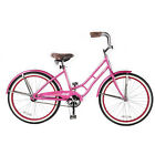 """24"""" Columbia Girls Bike Bicycle Steel Frame Single Speed Pink Color NEW Coaster"""