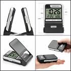 Small Travel Alarm Clock Battery Powered Folding Time Clocks Digital LCD Display