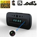HD 1080P Hidden Camera Clock IR Night Vision Motion Detection Mini DV + Remote C
