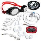 Swimbuds SPORT Headphones and 8 GB SYRYN waterproof MP3 player with shuffle f...