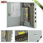 18CH Channel Power Supply Box for CCTV Camera Security Surveillance12V 10A DC TO