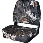 Wise Folding Boat Seat Chair, Break Up Camo Fishing Marine-Grade Foam Padding