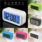 LED Digital Electronic Alarm Clock Backlight Time With Calendar + Thermometer #q