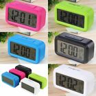 LED Digital Electronic Alarm Clock Backlight Time With Calendar + Thermometer #l