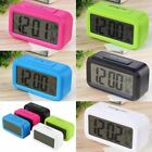 LED Digital Electronic Alarm Clock Backlight Time With Calendar + Thermometer Q1