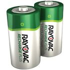 Rayovac Ready-to-Use Rechargeable NiMH C Batteries (2 pk; 3 000mAh)
