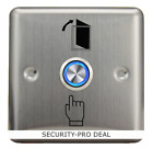 New Stainless Steel Momentary Door Exit Release Button Switch With 12V LED Light