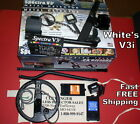 """White's Refurb V3i Metal Detector with 10"""" DD Waterproof Coil  FREE Shipping"""