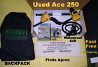 USED Garrett Ace 250 Metal Detector with Backpack * Fast Free Shipping