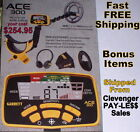 Garrett New Ace 400 Metal Detector with Extra Items  Fast Free Shipping