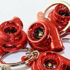 Lot 5PCS Universal JDM Spinning Turbo Charger Turbine Keychain Keyring Fob - Red