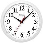 Wall Clock, White Basic 10inch Living Room Bedroom Analog Mounted Wall Clock Wal