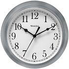 Decorative Clock, Westclox Simplicity Silver 9in Kitchen Wall Clock Bedroom