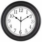 Bekith 9 inch Quartz Decorative Classic Clock Vintage Non Ticking Wall Clock,