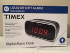 "Timex Alarm Clock with 0.7"" Red Display (Black) Model T121B"