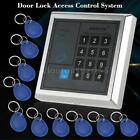 New Security Door Access Control RFID Keypad Card Reader with 10 EM Keyfobs O3A5