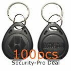 100PCS 125KHZ RFID Card Keyfobs EM4100 TK4100 Proximity ID Card Keyfobs Black