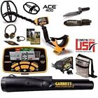 Garrett ACE 400 Metal Detector with PRO POINTER II PROBE + POUCH + EDGE DIGGER