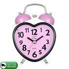 Alarm Clock for Kids Silent Desk Travel Clock Nightlight Heavy Sleepers Pink New