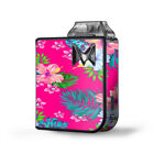 Skin Decal for SV Mi-Pod Kit Vape / Pink Neon Hibiscus Flowers